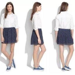 Madewell Pleated Polka Dot Skirt